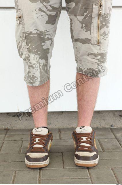 Calf Man Casual Shorts Athletic Street photo references