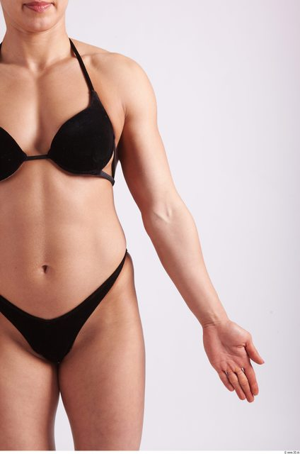 Arm Woman Sports Swimsuit Muscular Studio photo references