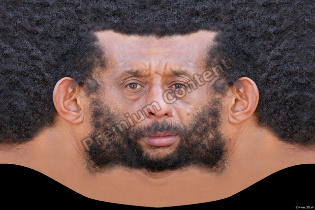 Photo of Face Man Black Head textures