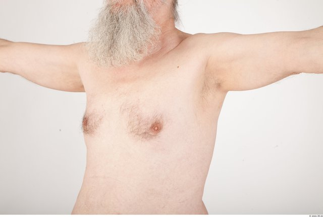 Chest Man White Nude Average Wrinkles