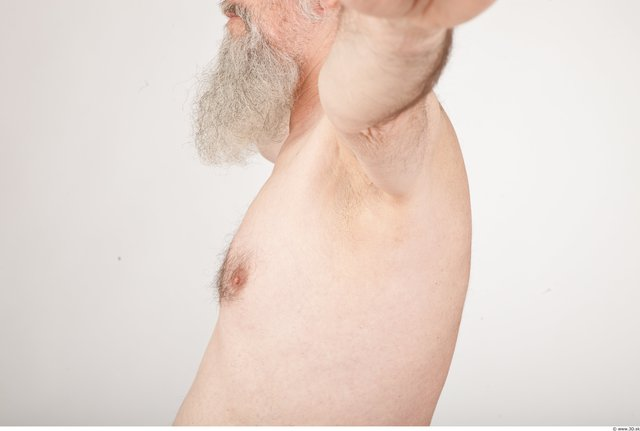 Photo of Chest Man White Nude Average Wrinkles