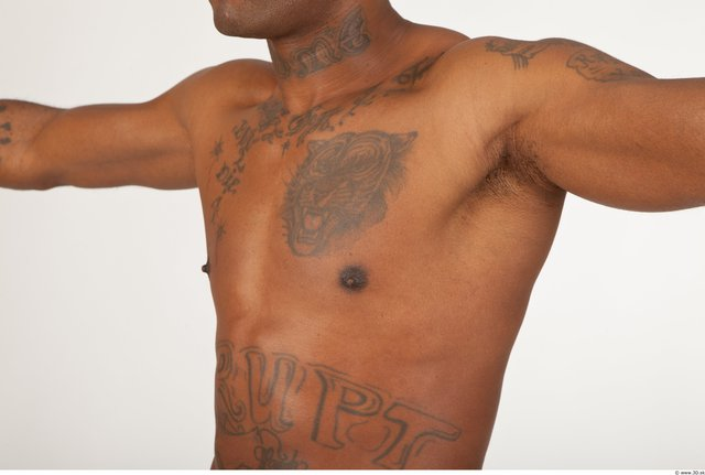 Chest Man Black Scar Nude Muscular