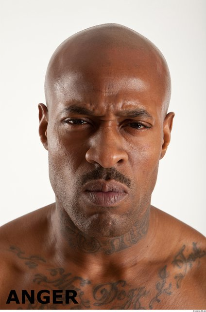 Photo of Head Emotions Man Black Muscular