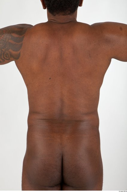 Back Man Black Nude Muscular