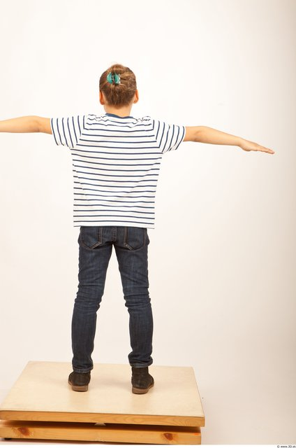 Photo of Whole Body Man T poses White Casual Slim