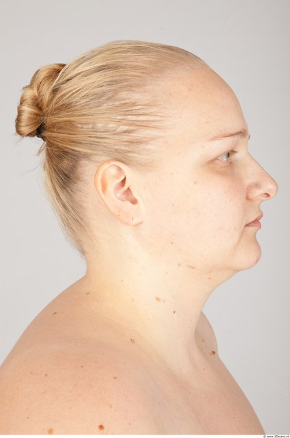 Head Woman White Overweight Head textures