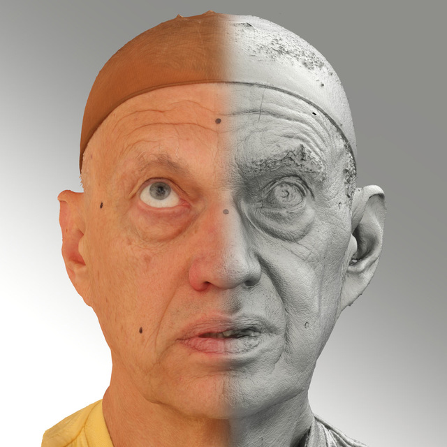 Photo of Head Emotions Man White Average 3D Scans