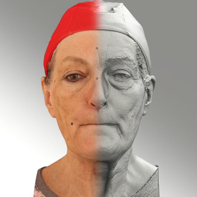 Photo of Head Woman White Average 3D Scans