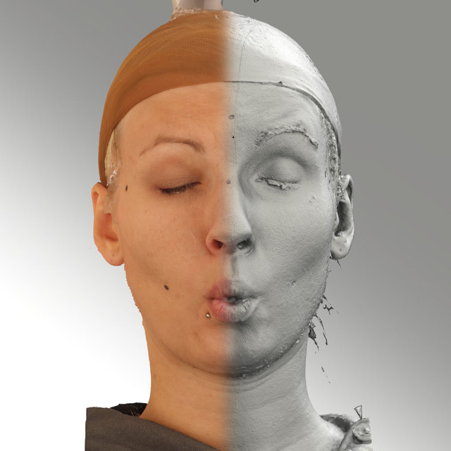 Head Phonemes Woman White Average 3D Scans