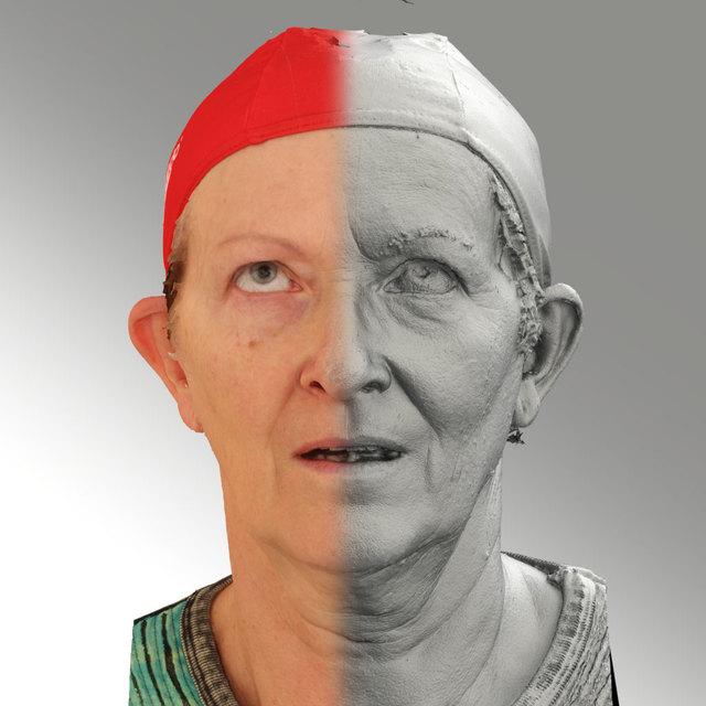 Head Emotions Woman White Average 3D Scans