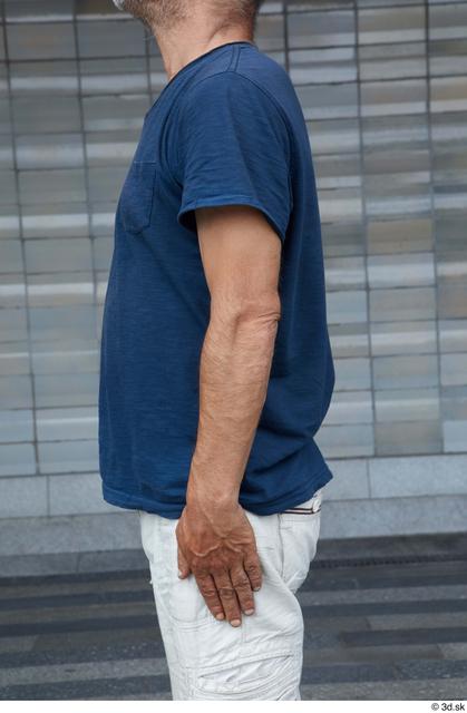 Arm Upper Body Man White Casual Slim Street photo references