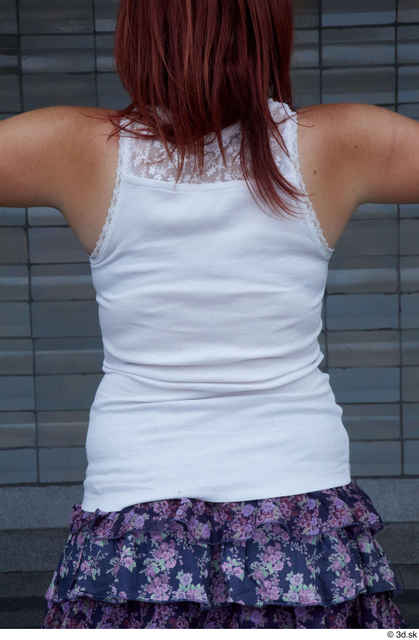 Upper Body Woman White Casual Average Street photo references