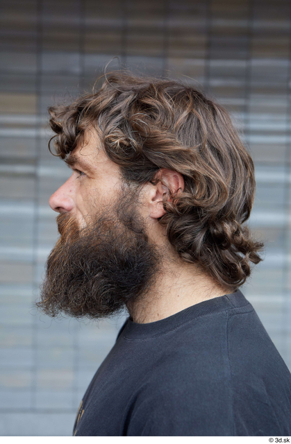 Head Man White Casual Average Bearded Street photo references