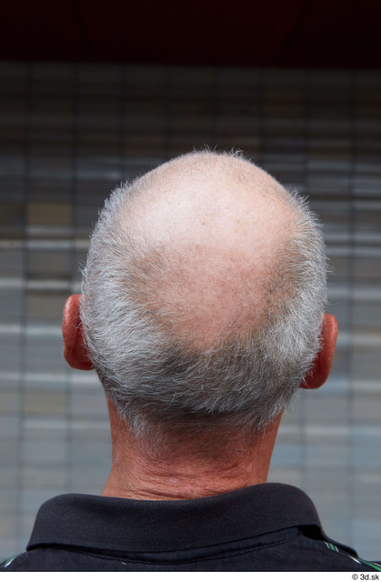 Head Hair Man White Casual Slim Bald Street photo references