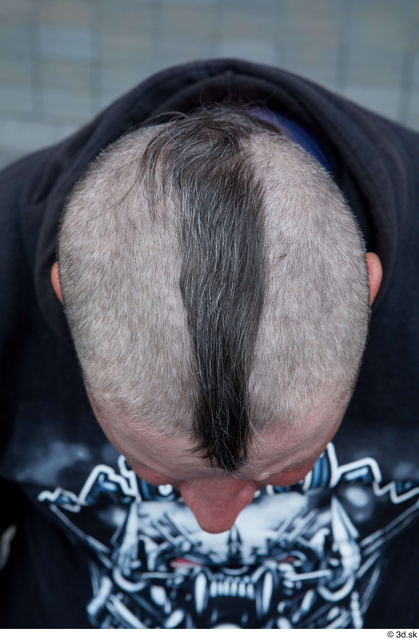 Head Hair Man White Casual Chubby Street photo references