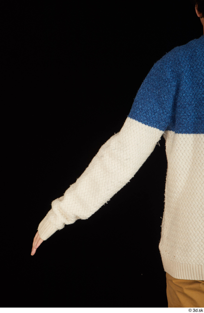 Arm Upper Body Man Sweater Slim Studio photo references