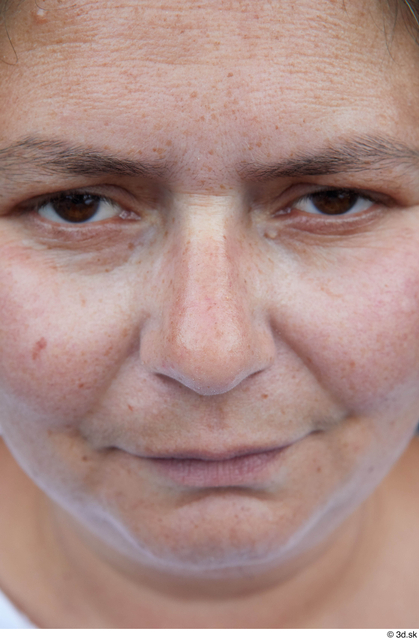 Face Nose Woman White Casual Chubby Street photo references