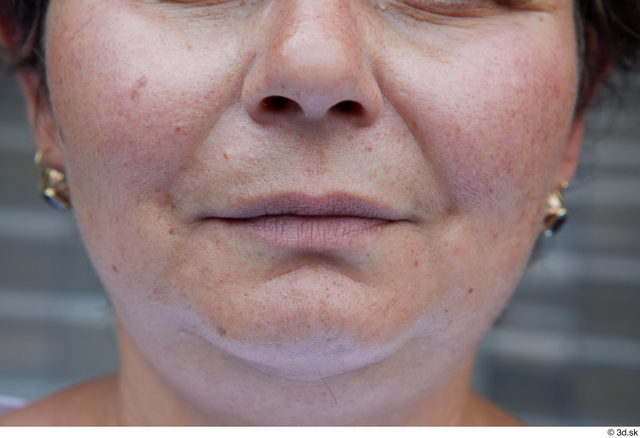 Mouth Woman White Casual Chubby Street photo references