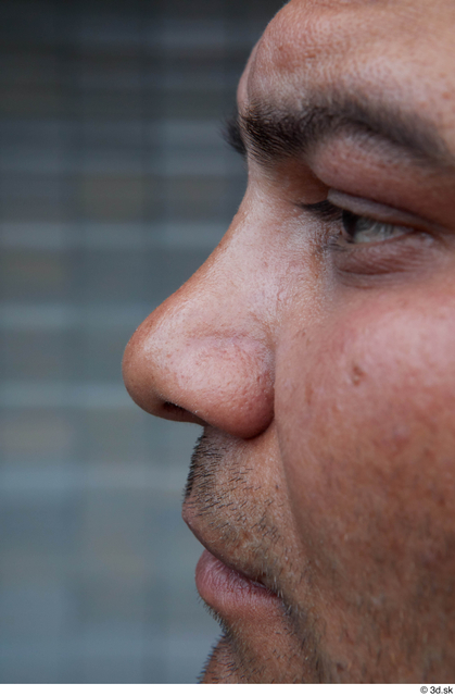 Nose Man White Casual Overweight Street photo references