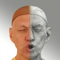 Raw 3D head scan of U phoneme - Jan