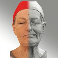Raw 3D head scan of sneer emotion left - Drahomira