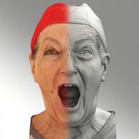Raw 3D head scan of shouting emotion - Drahomira