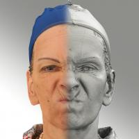 3D head scan of angry emotion - Alena