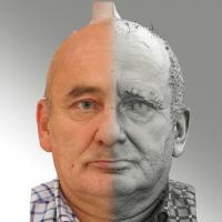 3D head scan of neutral relaxed emotion - Michal