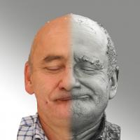 3D head scan of sneer emotion left - Michal