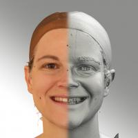 3D head scan of natural smiling emotion - Mariana