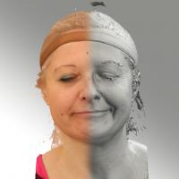 3D head scan of sneer emotion left - Eva