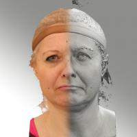 3D head scan of angry emotion - Eva