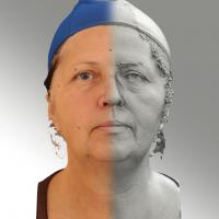 3D head scan of neutral emotion - Zdenka