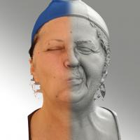 3D head scan of sneer emotion left - Zdenka