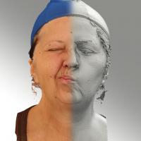 3D head scan of sneer emotion right - Zdenka