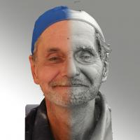 3D head scan of natural smiling emotion - Richard
