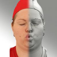 3D head scan of O phoneme - Misa