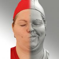 3D head scan of sneer emotion left - Misa