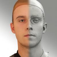 3D head scan of neutral emotion - Jirka