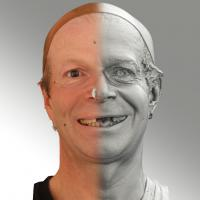 3D head scan of smiling emotion - Richard