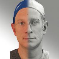 3D head scan of neutral emotion - Marcel
