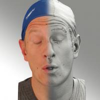3D head scan of O phoneme - Marcel