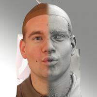 3D head scan of O phoneme - Petr