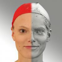3D head scan of natural smiling emotion - Dana