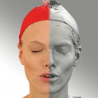 3D head scan of O phoneme - Dana