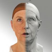 3D head scan of looking up emotion - Eva