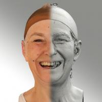 3D head scan of smiling emotion - Eva