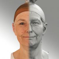 3D head scan of natural smiling emotion - Eva