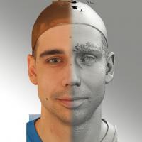 3D head scan of natural smiling emotion - Jiri