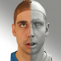 3D head scan of looking up emotion - Jiri